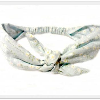 Daisy Rockabilly Tie Head Scarf Vintage Style Retro Bow Tie Headband